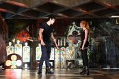 """SHADOWHUNTERS - """"Moo Shu To Go"""" - Alec finds himself torn between duty and loyalty to Jace in """"Moo Shu to Go,"""" an all-new episode of """"Shadowhunters,"""" airing  Tuesday, February 9th at 9:00 – 10:00 p.m., EST/PST on Freeform, the new name for ABC Family. (Freeform/John Medland) MATTHEW DADDARIO, KATHERINE MCNAMARA"""