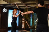 "SHADOWHUNTERS - ""Moo Shu To Go"" - Alec finds himself torn between duty and loyalty to Jace in ""Moo Shu to Go,"" an all-new episode of ""Shadowhunters,"" airing Tuesday, February 9th at 9:00 – 10:00 p.m., EST/PST on Freeform, the new name for ABC Family. (Freeform/John Medland) KATHERINE MCNAMARA, MATTHEW DADDARIO"