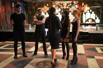 "SHADOWHUNTERS - ""Moo Shu To Go"" - Alec finds himself torn between duty and loyalty to Jace in ""Moo Shu to Go,"" an all-new episode of ""Shadowhunters,"" airing Tuesday, February 9th at 9:00 – 10:00 p.m., EST/PST on Freeform, the new name for ABC Family. (Freeform/John Medland) MATTHEW DADDARIO, DOMINIC SHERWOOD, EMERAUDE TOUBIA, KATHERINE MCNAMARA"
