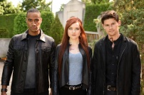 """SHADOWHUNTERS - """"Of Men and Angels"""" - Magnus and Luke reveal Clary's past in """"Of Men and Angels,"""" an all-new episode of """"Shadowhunters,"""" airing Tuesday, February 16th at 9:00 – 10:00 p.m., EST/PST on Freeform, the new name for ABC Family. (Freeform/John Medland) NYKEEM PROVO, SUSANNA FOURNIER, OWEN ROTH"""