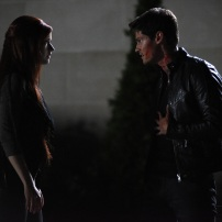 """SHADOWHUNTERS - """"Of Men and Angels"""" - Magnus and Luke reveal Clary's past in """"Of Men and Angels,"""" an all-new episode of """"Shadowhunters,"""" airing Tuesday, February 16th at 9:00 – 10:00 p.m., EST/PST on Freeform, the new name for ABC Family. (Freeform/John Medland) SUSANNA FOURNIER, OWEN ROTH"""