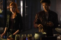 """SHADOWHUNTERS - """"Of Men and Angels"""" - Magnus and Luke reveal Clary's past in """"Of Men and Angels,"""" an all-new episode of """"Shadowhunters,"""" airing Tuesday, February 16th at 9:00 – 10:00 p.m., EST/PST on Freeform, the new name for ABC Family. (Freeform/John Medland) KATHERINE MCNAMARA, HARRY SHUM JR."""
