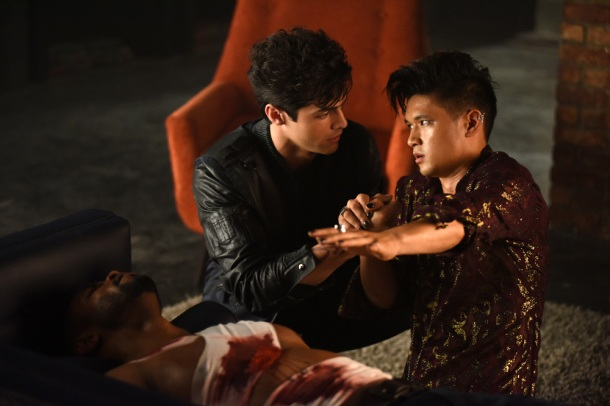 "SHADOWHUNTERS - ""Of Men and Angels"" - Magnus and Luke reveal Clary's past in ""Of Men and Angels,"" an all-new episode of ""Shadowhunters,"" airing Tuesday, February 16th at 9:00 – 10:00 p.m., EST/PST on Freeform, the new name for ABC Family. (Freeform/John Medland) MATTHEW DADDARIO, HARRY SHUM JR."