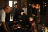 """SHADOWHUNTERS - """"Of Men and Angels"""" - Magnus and Luke reveal Clary's past in """"Of Men and Angels,"""" an all-new episode of """"Shadowhunters,"""" airing Tuesday, February 16th at 9:00 – 10:00 p.m., EST/PST on Freeform, the new name for ABC Family. (Freeform/John Medland) OZ SCOTT (DIRECTOR), ALBERTO ROSENDE, ISAIAH MUSTAFA, MATTHEW DADDARIO, DOMINIC SHERWOOD, HARRY SHUM JR., KATHERINE MCNAMARA"""