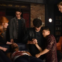 "SHADOWHUNTERS - ""Of Men and Angels"" - Magnus and Luke reveal Clary's past in ""Of Men and Angels,"" an all-new episode of ""Shadowhunters,"" airing Tuesday, February 16th at 9:00 – 10:00 p.m., EST/PST on Freeform, the new name for ABC Family. (Freeform/John Medland) KATHERINE MCNAMARA, ISAIAH MUSTAFA, ALBERTO ROSENDE, MATTHEW DADDARIO, HARRY SHUM JR., DOMINIC SHERWOOD"