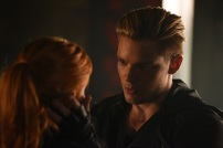 """SHADOWHUNTERS - """"Of Men and Angels"""" - Magnus and Luke reveal Clary's past in """"Of Men and Angels,"""" an all-new episode of """"Shadowhunters,"""" airing Tuesday, February 16th at 9:00 – 10:00 p.m., EST/PST on Freeform, the new name for ABC Family. (Freeform/John Medland) KATHERINE MCNAMARA, DOMINIC SHERWOOD"""