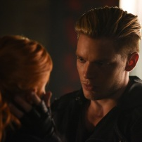"SHADOWHUNTERS - ""Of Men and Angels"" - Magnus and Luke reveal Clary's past in ""Of Men and Angels,"" an all-new episode of ""Shadowhunters,"" airing Tuesday, February 16th at 9:00 – 10:00 p.m., EST/PST on Freeform, the new name for ABC Family. (Freeform/John Medland) KATHERINE MCNAMARA, DOMINIC SHERWOOD"