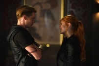 """SHADOWHUNTERS - """"Of Men and Angels"""" - Magnus and Luke reveal Clary's past in """"Of Men and Angels,"""" an all-new episode of """"Shadowhunters,"""" airing Tuesday, February 16th at 9:00 – 10:00 p.m., EST/PST on Freeform, the new name for ABC Family. (Freeform/John Medland) DOMINIC SHERWOOD, KATHERINE MCNAMARA"""