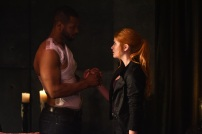 """SHADOWHUNTERS - """"Of Men and Angels"""" - Magnus and Luke reveal Clary's past in """"Of Men and Angels,"""" an all-new episode of """"Shadowhunters,"""" airing Tuesday, February 16th at 9:00 – 10:00 p.m., EST/PST on Freeform, the new name for ABC Family. (Freeform/John Medland) ISAIAH MUSTAFA, KATHERINE MCNAMARA"""