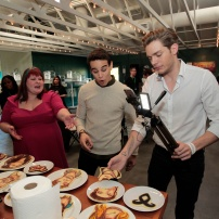 FREEFORM - ABC Family Becomes Freeform today and Celebrates with a daylong multi-platform social event where fans can interact with musical artists, visual artists and talent. (Freeform/Rick Rowell) CASSANDRA CLARE, ALBERTO ROSENDE, DOMINIC SHERWOOD