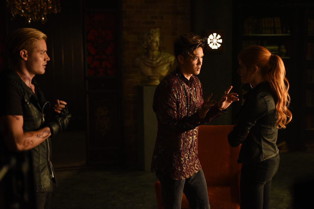 DOMINIC SHERWOOD, HARRY SHUM JR., KATHERINE MCNAMARA