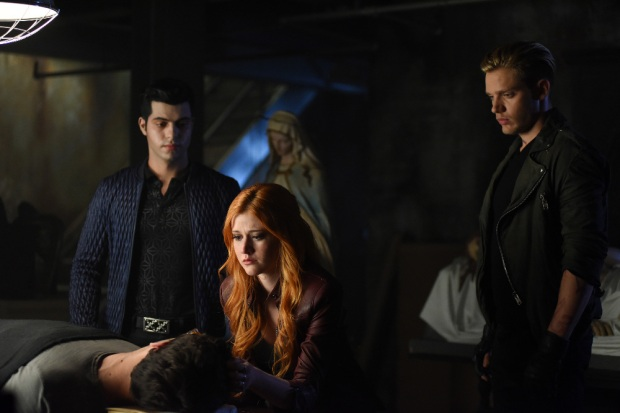 "SHADOWHUNTERS - ""Bad Blood"" - Alec and Clary are forced to make some hard decisions in ""Bad Blood,"" an all-new episode of ""Shadowhunters,"" airing Tuesday, March 1st at 9:00 – 10:00 p.m., EST/PST on Freeform, the new name for ABC Family. (Freeform/John Medland) DAVID CASTRO, KATHERINE MCNAMARA, DOMINIC SHERWOOD"