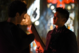 "SHADOWHUNTERS - ""Bad Blood"" (Freeform/John Medland) MATTHEW DADDARIO, HARRY SHUM JR."
