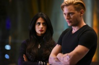 """SHADOWHUNTERS - """"Rise Up"""" - With the Institute on high alert, Jace, Clary and Isabelle are forced into taking drastic actions in """"Rise Up,"""" an all-new episode of """"Shadowhunters,"""" airing Tuesday, March 8th at 9:00-10:00 p.m., EST/PST on Freeform, the new name for ABC Family. - With the Institute on high alert, Jace, Clary and Isabelle are forced into taking drastic actions. (Freeform/John Medland) EMERAUDE TOUBIA, DOMINIC SHERWOOD"""