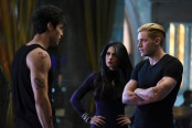"""SHADOWHUNTERS - """"Rise Up"""" - With the Institute on high alert, Jace, Clary and Isabelle are forced into taking drastic actions in """"Rise Up,"""" an all-new episode of """"Shadowhunters,"""" airing  Tuesday, March 8th at 9:00-10:00 p.m., EST/PST on Freeform, the new name for ABC Family. - With the Institute on high alert, Jace, Clary and Isabelle are forced into taking drastic actions. (Freeform/John Medland) MATTHEW DADDARIO, EMERAUDE TOUBIA, DOMINIC SHERWOOD"""