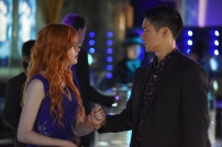 "SHADOW HUNTERS - ""This World Inverted"" - Clary finds herself is a strange reality in ""This World Inverted,"" an all-new episode of ""Shadowhunters,"" airing TUESDAY, MARCH 15 (9:00 – 10:00 p.m., EST) on Freeform, the new name for ABC Family. (Freeform/John Medland) KATHERINE MCNAMARA, HARRY SHUM JR."