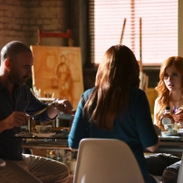 "SHADOWHUNTERS - ""The World Inverted"" - Clary finds herself is a strange reality in ""This World Inverted,"" an all-new episode of ""Shadowhunters,"" airing TUESDAY, MARCH 15 (9:00 - 10:00 p.m., EST) on Freeform, the new name for ABC Family. (Freeform/John Medland) ALAN VAN SPRANG, KATHERINE MCNAMARA"
