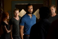"""SHADOW HUNTERS - """"Blood Calls to Blood"""" - With the help of a new ally, Clary and Jace attempt to rescue Jocelyn in """"Blood Calls to Blood,"""" an all-new episode of """"Shadowhunters,"""" airing TUESDAY, MARCH 22 (9:00-10:00 p.m. EDT) on Freeform. (Freeform/John Medland) KATHERINE MCNAMARA, DOMINIC SHERWOOD, ISAIAH MUSTAFA, ADAM HARRINGTON"""