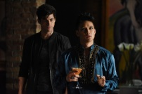 """SHADOW HUNTERS - """"Blood Calls to Blood"""" - With the help of a new ally, Clary and Jace attempt to rescue Jocelyn in """"Blood Calls to Blood,"""" an all-new episode of """"Shadowhunters,"""" airing TUESDAY, MARCH 22 (9:00-10:00 p.m. EDT) on Freeform. (Freeform/John Medland) MATTHEW DADDARIO, HARRY SHUM JR."""