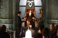 "SHADOW HUNTERS - ""Blood Calls to Blood"" - With the help of a new ally, Clary and Jace attempt to rescue Jocelyn in ""Blood Calls to Blood,"" an all-new episode of ""Shadowhunters,"" airing TUESDAY, MARCH 22 (9:00-10:00 p.m. EDT) on Freeform. (Freeform/John Medland) HARRY SHUM JR., MIMI KUZYK, STEPHEN R. HART"