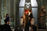 """SHADOW HUNTERS - """"Blood Calls to Blood"""" - With the help of a new ally, Clary and Jace attempt to rescue Jocelyn in """"Blood Calls to Blood,"""" an all-new episode of """"Shadowhunters,"""" airing TUESDAY, MARCH 22 (9:00-10:00 p.m. EDT) on Freeform. (Freeform/John Medland) EMERAUDE TOUBIA, MIMI KUZYK, STEPHEN R. HART"""