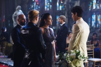 """SHADOW HUNTERS - """"Malec"""" - On the eve of Alec and Lydia's wedding relationships are being examined in """"Malec,"""" an all-new episode of """"Shadowhunters,"""" airing TUESDAY, MARCH 29 (9:00 – 10:00 p.m., EST) on Freeform, the new name for ABC Family. (Freeform/John Medland) DOMINIC SHERWOOD, NICOLE CORREIA DAMUDE, MATTHEW DADDARIO"""