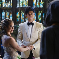 "SHADOW HUNTERS - ""Malec"" - On the eve of Alec and Lydia's wedding relationships are being examined in ""Malec,"" an all-new episode of ""Shadowhunters,"" airing TUESDAY, MARCH 29 (9:00 – 10:00 p.m., EST) on Freeform, the new name for ABC Family. (Freeform/John Medland) STEPHANIE BENNETT, MATTHEW DADDARIO"