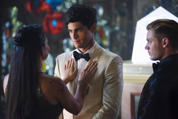"SHADOW HUNTERS - ""Malec"" - On the eve of Alec and Lydia's wedding relationships are being examined in ""Malec,"" an all-new episode of ""Shadowhunters,"" airing TUESDAY, MARCH 29 (9:00 – 10:00 p.m., EST) on Freeform, the new name for ABC Family. (Freeform/John Medland) MATTHEW DADDARIO, DOMINIC SHERWOOD"