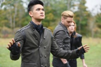 """SHADOW HUNTERS - """"Malec"""" - On the eve of Alec and Lydia's wedding relationships are being examined in """"Malec,"""" an all-new episode of """"Shadowhunters,"""" airing TUESDAY, MARCH 29 (9:00 – 10:00 p.m., EST) on Freeform, the new name for ABC Family. (Freeform/John Medland) HARRY SHUM JR., DOMINIC SHERWOOD, KATHERINE MCNAMARA"""