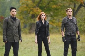 """SHADOW HUNTERS - """"Malec"""" - On the eve of Alec and Lydia's wedding relationships are being examined in """"Malec,"""" an all-new episode of """"Shadowhunters,"""" airing TUESDAY, MARCH 29 (9:00 – 10:00 p.m., EST) on Freeform, the new name for ABC Family. (Freeform/John Medland) HARRY SHUM JR., KATHERINE MCNAMARA, DOMINIC SHERWOOD"""