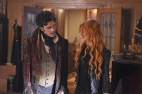 """SHADOW HUNTERS - """"Malec"""" - On the eve of Alec and Lydia's wedding relationships are being examined in """"Malec,"""" an all-new episode of """"Shadowhunters,"""" airing TUESDAY, MARCH 29 (9:00 – 10:00 p.m., EST) on Freeform, the new name for ABC Family. (Freeform/John Medland) ADAM KENNETH WILSON, KATHERINE MCNAMARA"""