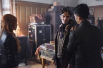 """SHADOW HUNTERS - """"Malec"""" - On the eve of Alec and Lydia's wedding relationships are being examined in """"Malec,"""" an all-new episode of """"Shadowhunters,"""" airing TUESDAY, MARCH 29 (9:00 – 10:00 p.m., EST) on Freeform, the new name for ABC Family. (Freeform/John Medland) KATHERINE MCNAMARA, ADAM KENNETH WILSON, HARRY SHUM JR."""