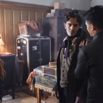 "SHADOW HUNTERS - ""Malec"" - On the eve of Alec and Lydia's wedding relationships are being examined in ""Malec,"" an all-new episode of ""Shadowhunters,"" airing TUESDAY, MARCH 29 (9:00 – 10:00 p.m., EST) on Freeform, the new name for ABC Family. (Freeform/John Medland) KATHERINE MCNAMARA, ADAM KENNETH WILSON, HARRY SHUM JR."