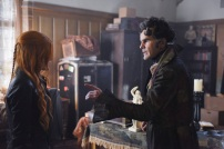 """SHADOW HUNTERS - """"Malec"""" - On the eve of Alec and Lydia's wedding relationships are being examined in """"Malec,"""" an all-new episode of """"Shadowhunters,"""" airing TUESDAY, MARCH 29 (9:00 – 10:00 p.m., EST) on Freeform, the new name for ABC Family. (Freeform/John Medland) KATHERINE MCNAMARA, ADAM KENNETH WILSON"""