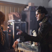 "SHADOW HUNTERS - ""Malec"" - On the eve of Alec and Lydia's wedding relationships are being examined in ""Malec,"" an all-new episode of ""Shadowhunters,"" airing TUESDAY, MARCH 29 (9:00 – 10:00 p.m., EST) on Freeform, the new name for ABC Family. (Freeform/John Medland) KATHERINE MCNAMARA, ADAM KENNETH WILSON"