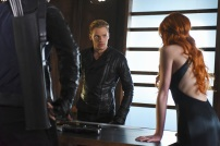 """SHADOW HUNTERS - """"Morning Star"""" - Time is running out for the Shadowhunters to stop Valentine in """"Morning Star,"""" the season finale of """"Shadowhunters,"""" airing TUESDAY, APRIL 5 (9:00 - 10:00 p.m. EDT) on Freeform. (Freeform/John Medland) DOMINIC SHERWOOD, KATHERINE MCNAMARA"""