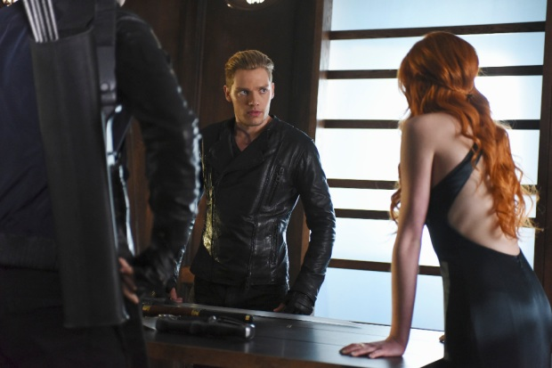 "SHADOW HUNTERS - ""Morning Star"" - Time is running out for the Shadowhunters to stop Valentine in ""Morning Star,"" the season finale of ""Shadowhunters,"" airing TUESDAY, APRIL 5 (9:00 - 10:00 p.m. EDT) on Freeform. (Freeform/John Medland) DOMINIC SHERWOOD, KATHERINE MCNAMARA"