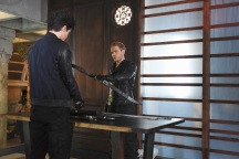 "SHADOW HUNTERS - ""Morning Star"" - Time is running out for the Shadowhunters to stop Valentine in ""Morning Star,"" the season finale of ""Shadowhunters,"" airing TUESDAY, APRIL 5 (9:00 - 10:00 p.m. EDT) on Freeform. (Freeform/John Medland) MATTHEW DADDARIO, DOMINIC SHERWOOD"