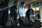 "SHADOW HUNTERS - ""Morning Star"" - Time is running out for the Shadowhunters to stop Valentine in ""Morning Star,"" the season finale of ""Shadowhunters,"" airing TUESDAY, APRIL 5 (9:00 - 10:00 p.m. EDT) on Freeform. (Freeform/John Medland) DOMINIC SHERWOOD, MATTHEW DADDARIO, EMERAUDE TOUBIA, KATHERINE MCNAMARA"