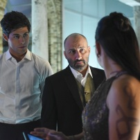 "SHADOW HUNTERS - ""Morning Star"" - Time is running out for the Shadowhunters to stop Valentine in ""Morning Star,"" the season finale of ""Shadowhunters,"" airing TUESDAY, APRIL 5 (9:00 - 10:00 p.m. EDT) on Freeform. (Freeform/John Medland) MATTHEW DADDARIO, PAULINO NUNES"