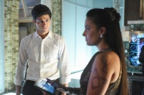 "SHADOW HUNTERS - ""Morning Star"" - Time is running out for the Shadowhunters to stop Valentine in ""Morning Star,"" the season finale of ""Shadowhunters,"" airing TUESDAY, APRIL 5 (9:00 - 10:00 p.m. EDT) on Freeform. (Freeform/John Medland) MATTHEW DADDARIO, NICOLA CORREIA DAMUDE"