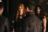 "SHADOW HUNTERS - ""Morning Star"" - Time is running out for the Shadowhunters to stop Valentine in ""Morning Star,"" the season finale of ""Shadowhunters,"" airing TUESDAY, APRIL 5 (9:00 - 10:00 p.m. EDT) on Freeform. (Freeform/John Medland) KATHERINE MCNAMARA, EMERAUDE TOUBIA"