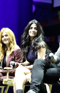 "SHADOWHUNTERS - The cast and producers of Freeform's ""Shadowhunters,"" are featured at the COMIC CON Convention at the Jacob Javits Center in New York City on October 8, 2016. (Freeform/Lou Rocco) KATHERINE MCNAMARA, EMERAUDE TOUBIA"