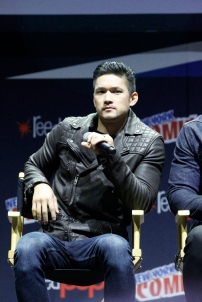 "SHADOWHUNTERS - The cast and producers of Freeform's ""Shadowhunters,"" are featured at the COMIC CON Convention at the Jacob Javits Center in New York City on October 8, 2016. (Freeform/Lou Rocco) HARRY SHUM JR."