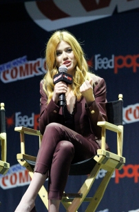 """SHADOWHUNTERS - The cast and producers of Freeform's """"Shadowhunters,"""" are featured at the COMIC CON Convention at the Jacob Javits Center in New York City on October 8, 2016. (Freeform/Lou Rocco) KATHERINE MCNAMARA"""