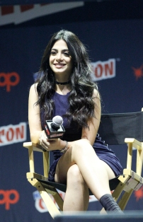 "SHADOWHUNTERS - The cast and producers of Freeform's ""Shadowhunters,"" are featured at the COMIC CON Convention at the Jacob Javits Center in New York City on October 8, 2016. (Freeform/Lou Rocco) EMERAUDE TOUBIA"