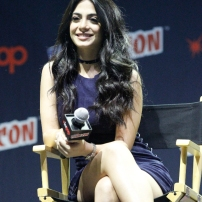 """SHADOWHUNTERS - The cast and producers of Freeform's """"Shadowhunters,"""" are featured at the COMIC CON Convention at the Jacob Javits Center in New York City on October 8, 2016. (Freeform/Lou Rocco) EMERAUDE TOUBIA"""
