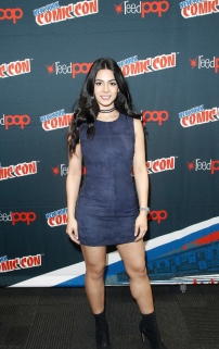 """SHADOWHUNTERS - The cast and producers of Freeform's """"Shadowhunters,"""" are featured at the COMIC CON Convention at the Jacob Javits Center in New York City on October 8, 2016. (ABC/Freeform) EMERAUDE TOUBIA"""