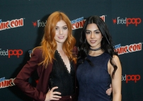 "SHADOWHUNTERS - The cast and producers of Freeform's ""Shadowhunters,"" are featured at the COMIC CON Convention at the Jacob Javits Center in New York City on October 8, 2016. (ABC/Freeform) KATHERINE MCNAMARA, EMERAUDE TOUBIA"