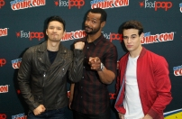 "SHADOWHUNTERS - The cast and producers of Freeform's ""Shadowhunters,"" are featured at the COMIC CON Convention at the Jacob Javits Center in New York City on October 8, 2016. (ABC/Lou Rocco) HARRY SHUM JR., ISAIAH MUSTAFA, ALBERTO ROSENDE"